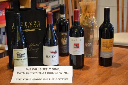 Thank you for the lovely gifts of wine!